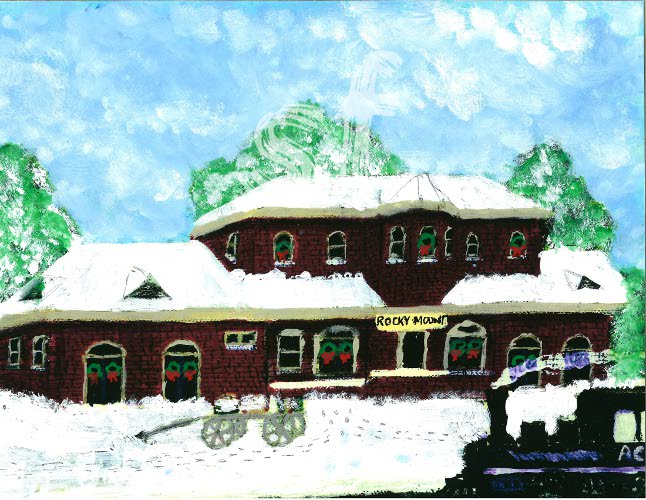 Rocky Mount Train Station Christmas 2010