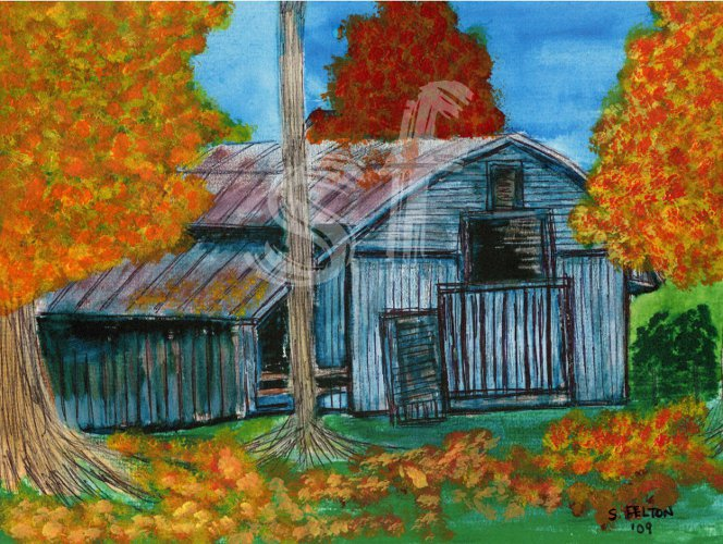 Fall at Great Granny&#39s Barn